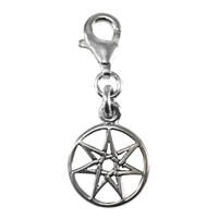 Septagram Faery Star Celtic Fairy Magic Sterling Silver Clip Charm Jewelry
