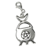 Sterling Silver Pentacle Moon Cauldron Clip On Charm