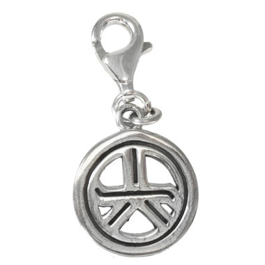 Tam A Ra Sha Reiki Energy Grounding Symbol Sterling Silver Clip Charm Jewelry