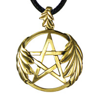 Bronze Oak Leaf Pentacle Pendant