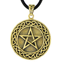 Bronze Celtic Knot Pentacle Pendant