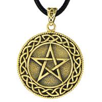Bronze Celtic Knot Pentacle Pendant