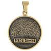 Bronze Papa Simbi Voodoo Veve Pendant Necklace