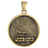 Bronze Papa Ghede Voodoo Veve Pendant Necklace