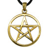 Gold Color Bronze Open Pentacle Pendant