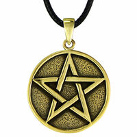 Bronze Solid Pentacle Pendant