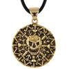 Bronze Skull and Bones Pirate Coin Pendant