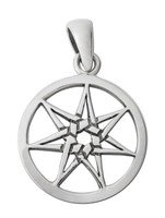 Small Sterling Silver Septagram Pendant