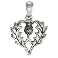 Sterling Silver Scottish Thistle Pendant Heritage