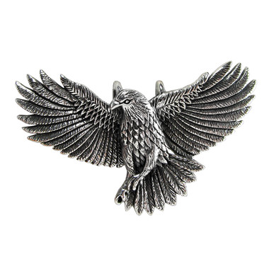 Sterling Silver American Eagle Flying Pendant Bird of Prey Jewelry