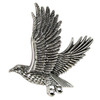 Sterling Silver Flying Falcon Hawk Pendant Bird of Prey Jewelry