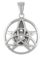 Sterling Silver Celtic Triquetra Pentacle Pentagram Pendant