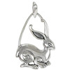 Sterling Silver Rabbit Pendant Jewelry Symbol of Prosperity and Fertility