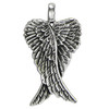 Small Sterling Silver Folded Angel Wings Pendant