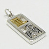 Sterling Silver Scorpio the Scorpion Zodiac Sign Pendant Charm with Vermeil