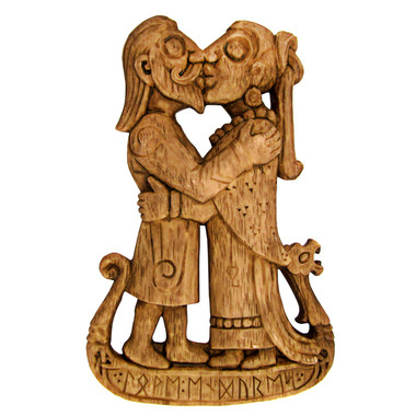 Viking Kiss Plaque
