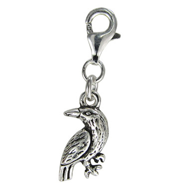 Sterling Silver Raven Clip Charm