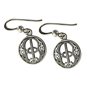 Sterling Silver Chalice Well Avalon Dangle Earrings