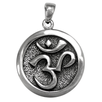 Sterling Silver Om Aum Pendant