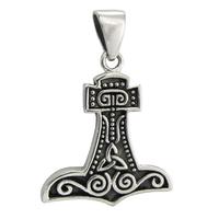 Sterling Silver Thor's Mjolnir Hammer Pendant