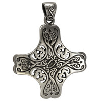 Sterling Silver Celtic Knot Cross of the Holy Spirit Pendant