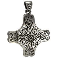 Sterling Silver Celtic Knot Cross of the Holy Spirit Pendant