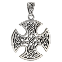 Sterling Silver Celtic Knotwork Cross Pendant