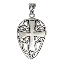 Sterling Silver Medieval Knights Cross Pendant