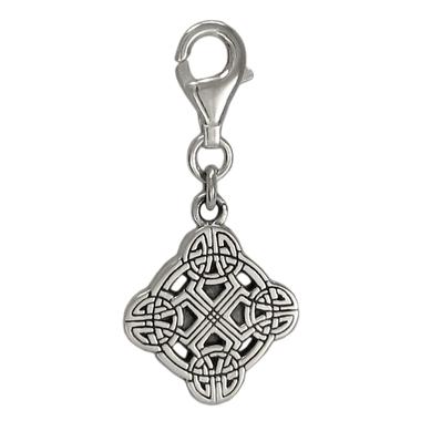 Sterling Silver Clonmacnois Cross Celtic Knot Clip Charm