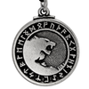 Pewter Odin's Wolves Norse Rune Pendant