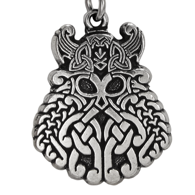 Pewter Odin Viking Warrior Pendant