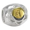 Sterling Silver Svadhisthana Sacral Chakra Charm Bead with Gold Accents