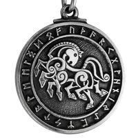 Pewter Norse God Odin Sleipnir Horse Pendant