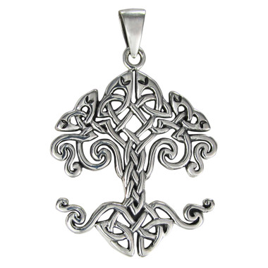 Sterling Silver Celtic Knotwork Tree of Life Pendant