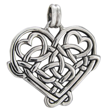 Sterling Silver Celtic Love Knot Heart Pendant