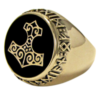 Large Bronze Thors Hammer Signet Ring