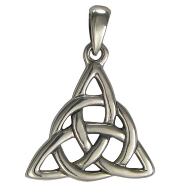 Sterling Silver Small Celtic Knot Triquetra Pendant