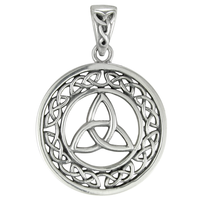 Sterling Silver Celtic Knot Trinity Triquetra Pendant