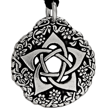Pentacle of the Goddess Pewter Pendant Necklace