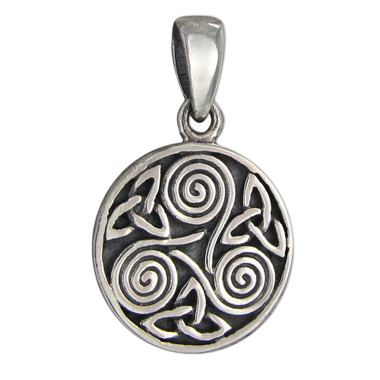 Sterling Silver Small Celtic Knot Triskelion Pendant