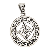 Sterling Silver Witches Celtic Knot Triquetra Pendant