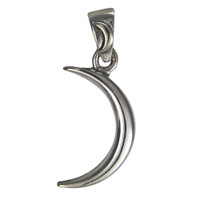 Small Sterling Silver Crescent Moon Pendant