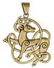 Bronze Celtic Knot Stag Pendant