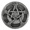 Pewter Moon Pentacle Paten Altar Plate