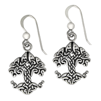 Sterling Silver Celtic Knot Tree of Life Earrings