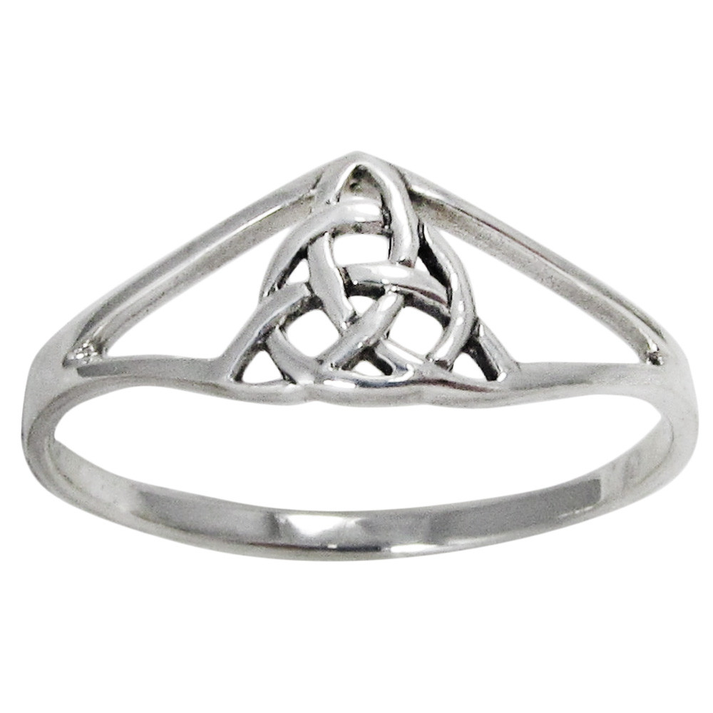 Jewelry Trends Celtic Knot Filigree Sterling Silver Band Ring Whole Sizes 4-15