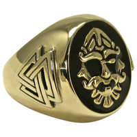 Large Bronze Odin Valknut Signet Ring
