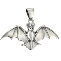 Sterling Silver Bat Pendant