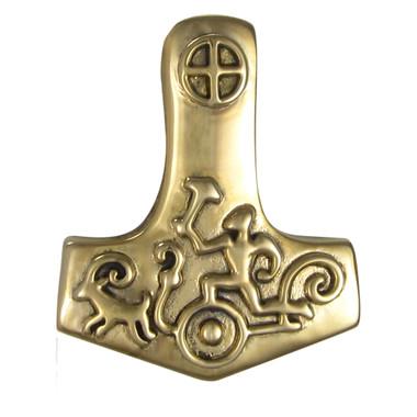 Bronze Petroglyph Thor's Hammer Pendant