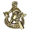 Bronze Norse God Njord Viking Rune Pendant
